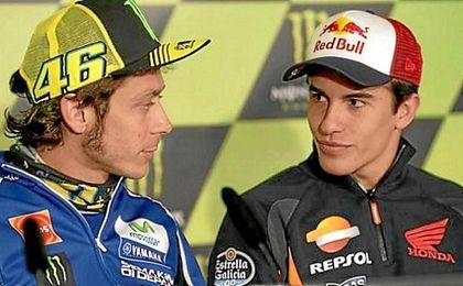 Rossi asegura que felicitará a Márquez por su campeonato.