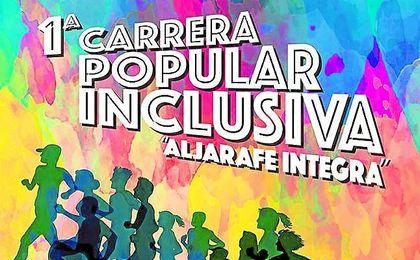 Cartel de la I Carrera `Aljarafe Integra´ de carácter popular.