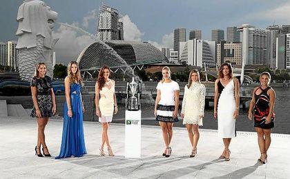 Muguruza, junto al resto de participantes del Masters femenino.