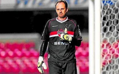 Rogério Ceni, en un partido con el Sao Paulo.