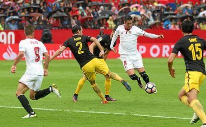 La incidencia de Escudero estuvo incluso por delante de Vitolo.