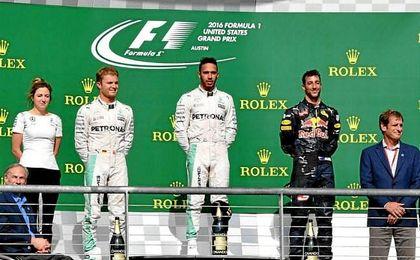 Hamilton logró en Austin la victoria número 50 de su carrera en la Fórmula Uno.