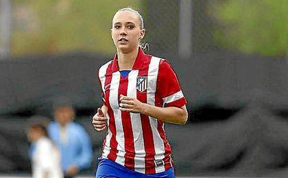La jugadora colombiana durante su etapa en el fútbol español.
