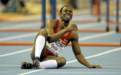 """Onyia, que fue novena en las semifinales de 100 metros vallas, ha dado positivo por la sustancia """"methylhexanamina""""."""
