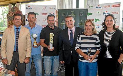 Los ganadores del V Torneo de Golf Reale Seguros.