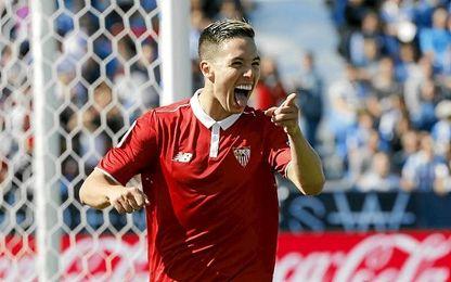 Nasri ha vuelto a recuperar la sonrisa y su fútbol en el Sevilla.