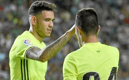 En pretemporada, contra el Sporting de Portugal, Rubén y Sanabria demostraron su conexión.