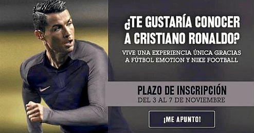 Javier Sánchez Broto puede cumplir tu sueño de conocer a Cristiano Ronaldo