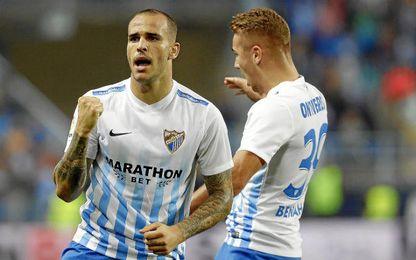 3-2. El Málaga remonta y logra una victoria agónica