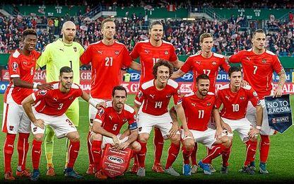 Un once de la selección austriaca.
