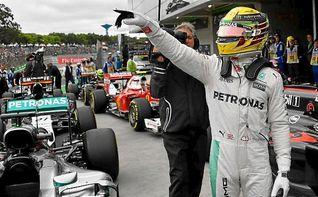 Hamilton saldrá desde la ´pole´ en Sao Paulo