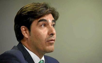 Haro, en la rueda de prensa de presentación de Víctor Sánchez del Amo.