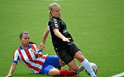 Imagen del partido entre el Atlético de Madrid y el Torrelodones.