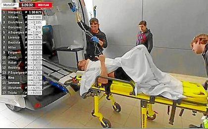 Imagen de Movistar del traslado de Rins al hospital.