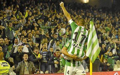 Joaquín y Bruno celebran el 1-0.