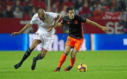 Parejo dejó patente su calidad en el que pudo haber sido su estadio si el Valencia lo hubiera dejado salir.