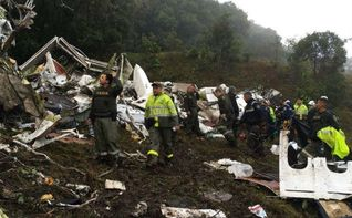 Las autoridades confirman que el avión del Chapecoense se quedó sin combustible