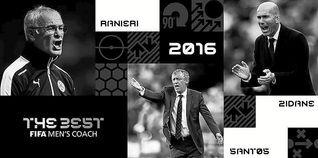 Zidane, Ranieri y Santos, finalistas al premio ´The Best´ de la FIFA