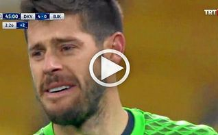 El exbético Fabricio rompe a llorar tras el batacazo del Besiktas