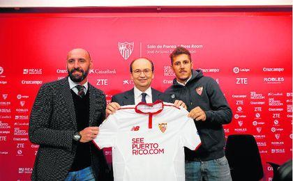 Presentación de Stevan Jovetic como jugador del Sevilla FC. Lince.