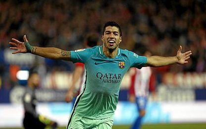 Suárez marcó un gol maravilloso, el 0-1.