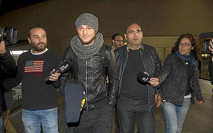 Zozulya, a su llegada a Sevilla.