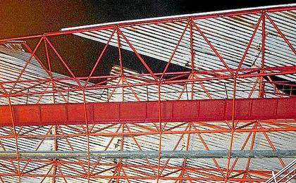 Imagen de la dañada cubierta de Balaídos.