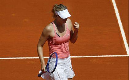 Sharapova en el Mutua Madrid Open de 2015. UESyndication.