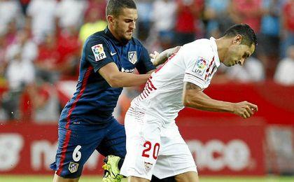 Vitolo, en una de sus actuaciones ante el Atlético.