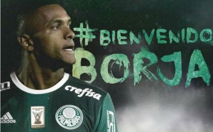 El colombiano Miguel Borja, nuevo jugador del Palmeiras
