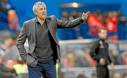 Setién, en un partido con la UD Las Palmas.