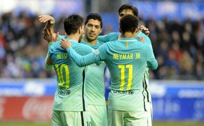 Suárez, con 18 tantos, es el máximo goleador en solitario de LaLiga. UESyndication.