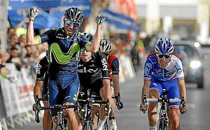 Valverde mantiene su idilio con la Ruta del Sol y ya es líder de la general
