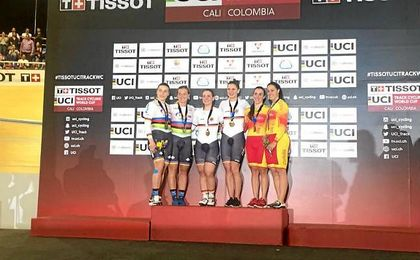 España se hace con el bronce en la Copa del Mundo de ciclismo de Cali