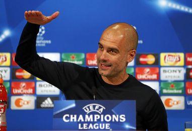Pep Guardiola en rueda de prensa previa de Champions.