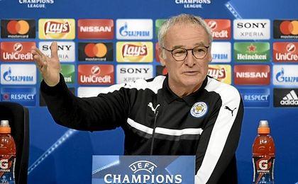 Ranieri, en sala de prensa.