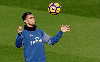 En la imagen, el portugués durante un entrenamiento.