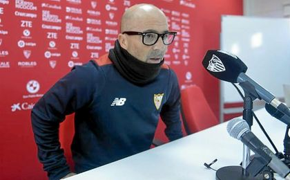 Jorge Sampaoli, en rueda de prensa.