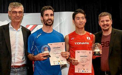 Pablo Abián, subcampeón del Open de Austria de bádminton