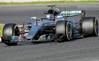 El finlandés Valtteri Bottas (Mercedes) rompe todos los récords de Montmeló