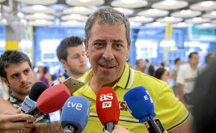Ramón Cid durante una comparecencia ante los medios.