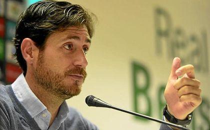 Víctor Sánchez del Amo, en sala de prensa.