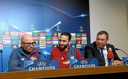 Rami fue quien acompañó a Sampaoli en la sala de prensa.