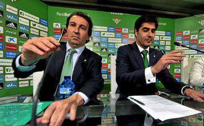 López Catalán y Haro, vicepresidente y presidente del Betis.