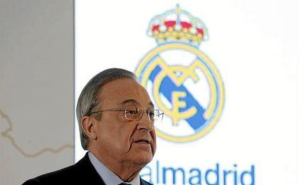 """Florentino Pérez: """"El equipo lo dará todo por la Champions y la Liga"""""""