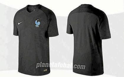 Imagen del diseño de la primera camiseta negra de la selección francesa.