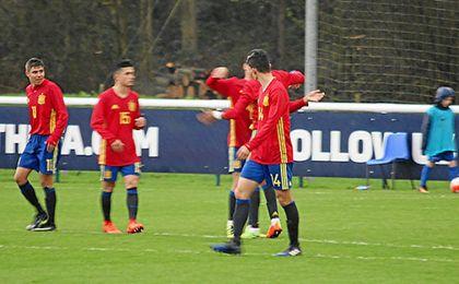 El sevillista Pozo asistió en uno de los goles.