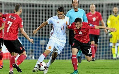Vitolo en la actualidad es uno de los jugadores más en forma de la selección.