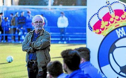 Eusebio Navarro, entrenador del UP Viso, ha cumplido una vuelta al frente de los alcoreños. Lince.