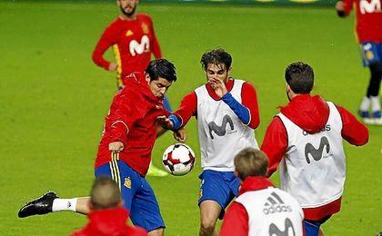 Imagen de un entrenamiento de España.